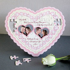 Charming Personalised Heart Shape Puzzle