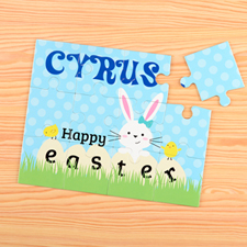 Happy Easter Personalised Kids Puzzle