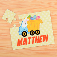 Easter Truck Personalised Kids Puzzle