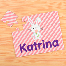 Easter Bunny Personalised Kids Puzzle