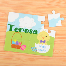 Easter Chick Personalised Kids Puzzle