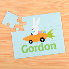 Carrot Car Personalised Kids Puzzle