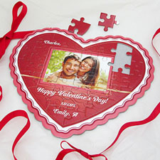 Glowing Love Personalised Heart Shape Photo Puzzle