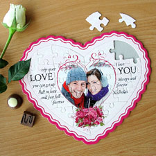 Love Message Personalised Heart Shape Puzzle