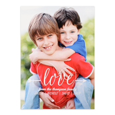 Heart & Arrow Personalised Photo Valentine's Card, 5