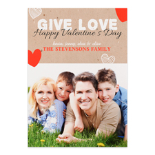 Give Love Personalised Photo Valentine's Card, 5