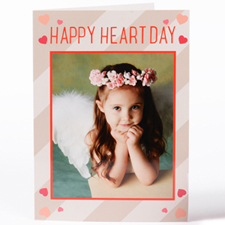 Craft Hearts Personalised Photo Valentine's Card, 5