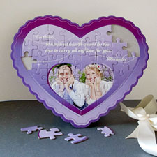 Love You Personalised Heart Shape Puzzle