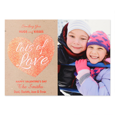 Glitter Love Personalised Photo Valentine's Card