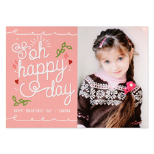 Oh Happy Valentine Personalised Photo Card