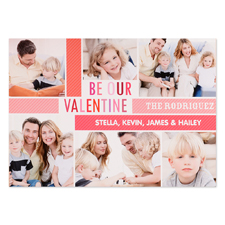 Be Our Valentine Personalised Photo Card