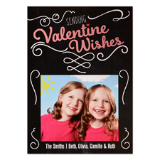 Sending Valentine Wishes Personalised Photo Card