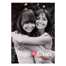 Hugs + Kisses Personalised Valentine Photo Card