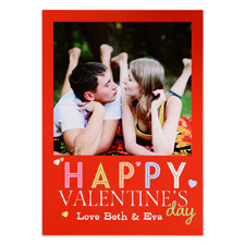 Happy Valentine's Day Personalised Photo Card