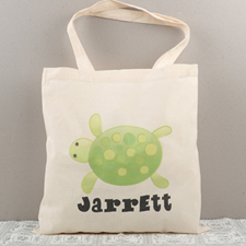 Turtle Personalised Cotton Tote Bag