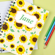 Sunflower Personalised Notebook