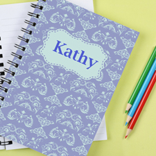 Damask Personalised Notebook