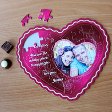 I Love You Personalised Heart Shape Photo Puzzle