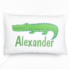 Alligator Personalised Name Pillowcase