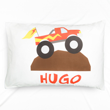 Working Truck Personalised Name Pillowcase