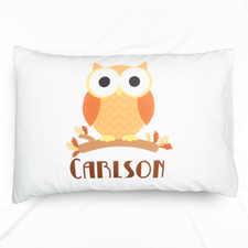 Yellow Owl Personalised Pillowcase