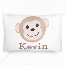 Monkey Personalised Name Pillowcase