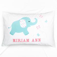 Baby Elephant Personalised Pillowcase