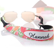 Red And Orange Floral Personalised Sunglass Strap
