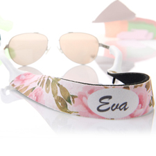 Watercolour Floral Personalised Sunglass Strap