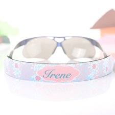 Aqua Floral Personalised Sunglass Strap