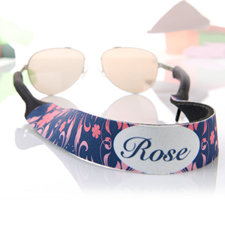 Pink And Navy Personalised Sunglass Strap