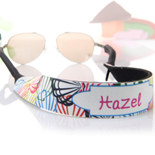 Multi Colour Shells Personalised Sunglass Strap
