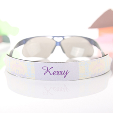 Pastel Greek Pattern Personalised Sunglass Strap