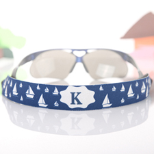 Navy Voyage Personalised Sunglass Strap