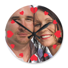 Hearts Personalised Photo Large Round 10.75