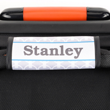 Grey Chain Personalised Luggage Handle Wrap