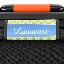 Lime Scallop Personalised Luggage Handle Wrap