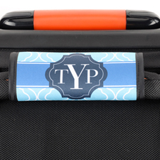 Blue Moroccan Personalised Luggage Handle Wrap