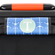 Navy Anchor Personalised Luggage Handle Wrap