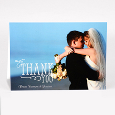 Personalised Thank You Photo Card For Wedding