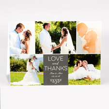 Personalised Love And Thanks Collage Photo Card For Wedding