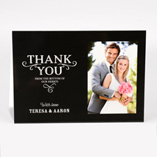 Personalised Thank You From The Bottom Of Our Hearts Photo Card For Wedding