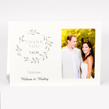 Personalised Thank You For Your Generosity With Love Photo Card For Wedding