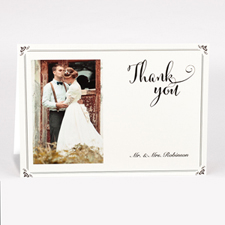 Personalised Vintage Thank You Photo Card For Wedding