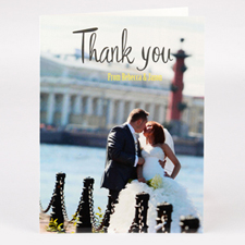 Personalised Wedding Thank You Photo Card