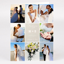 Personalised Thank You With Love From Collage Photo Card For Wedding