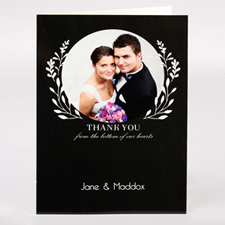 Personalised Thank You From Bottom Of Our Hearts Photo Card For Wedding