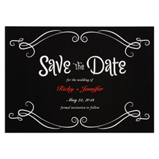 Chalkboard Personalised Save The Date Card