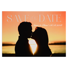 Block Letter Personalised Photo Save The Date Card