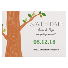 Love Tree Personalised Save The Date Card